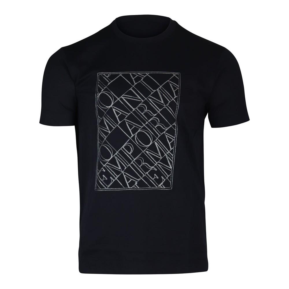 Emporio Armani Script Crew Neck T-Shirt Navy
