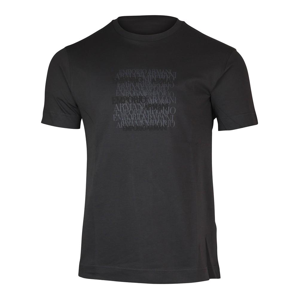 Emporio Armani Graphic Crew Neck T-Shirt Grey