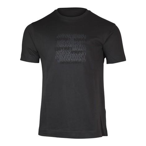 Emporio Armani Emporio Armani Graphic Crew Neck T-Shirt in Grey