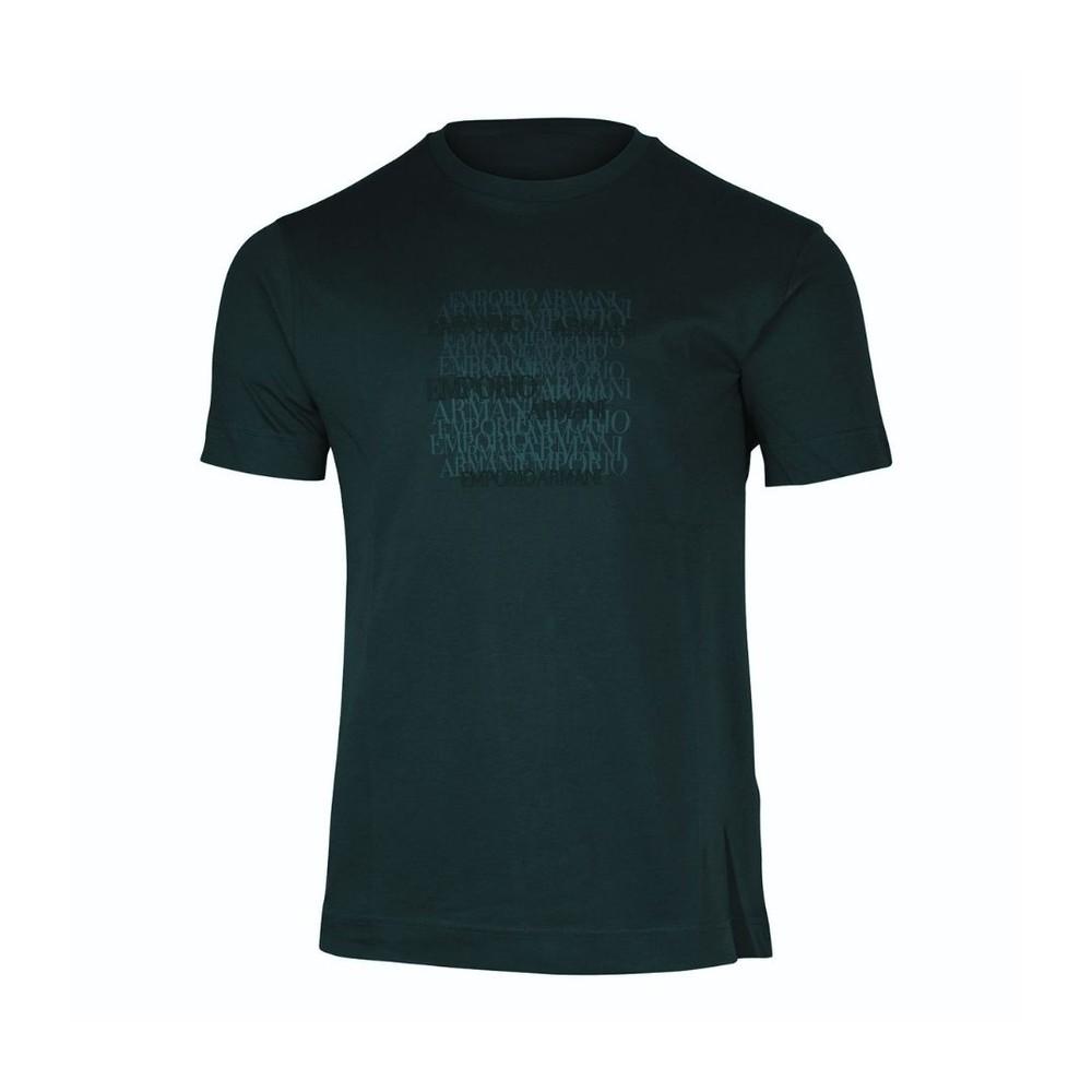 Emporio Armani Graphic Crew Neck T-Shirt Navy