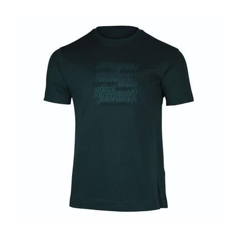Emporio Armani Emporio Armani Graphic Crew Neck T-Shirt in Navy