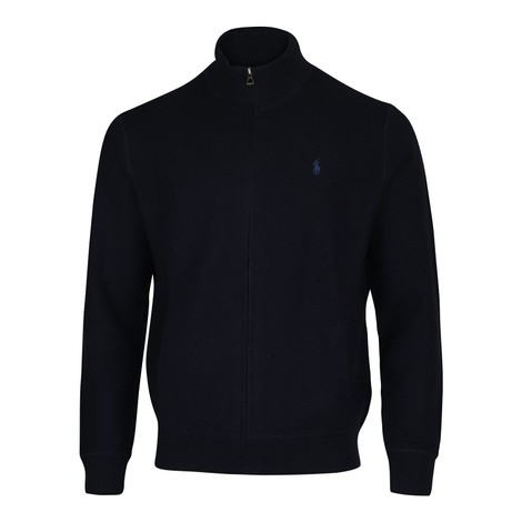 Ralph Lauren Menswear Zip Through Textured Sweater