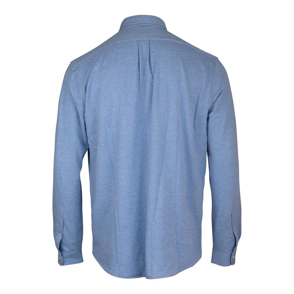 Ralph Lauren Menswear Button Down Mesh Shirt Blue