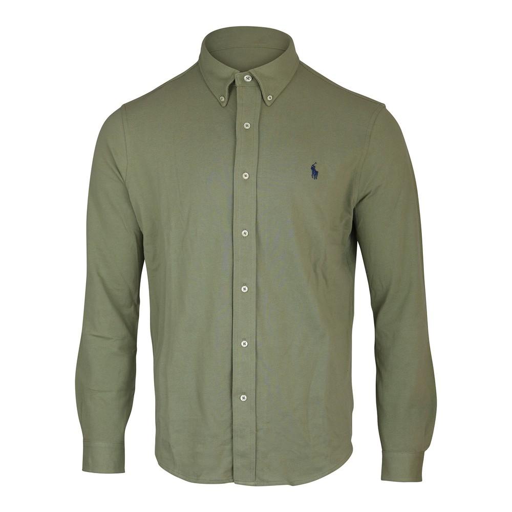 Ralph Lauren Menswear Button Down Mesh Shirt Green