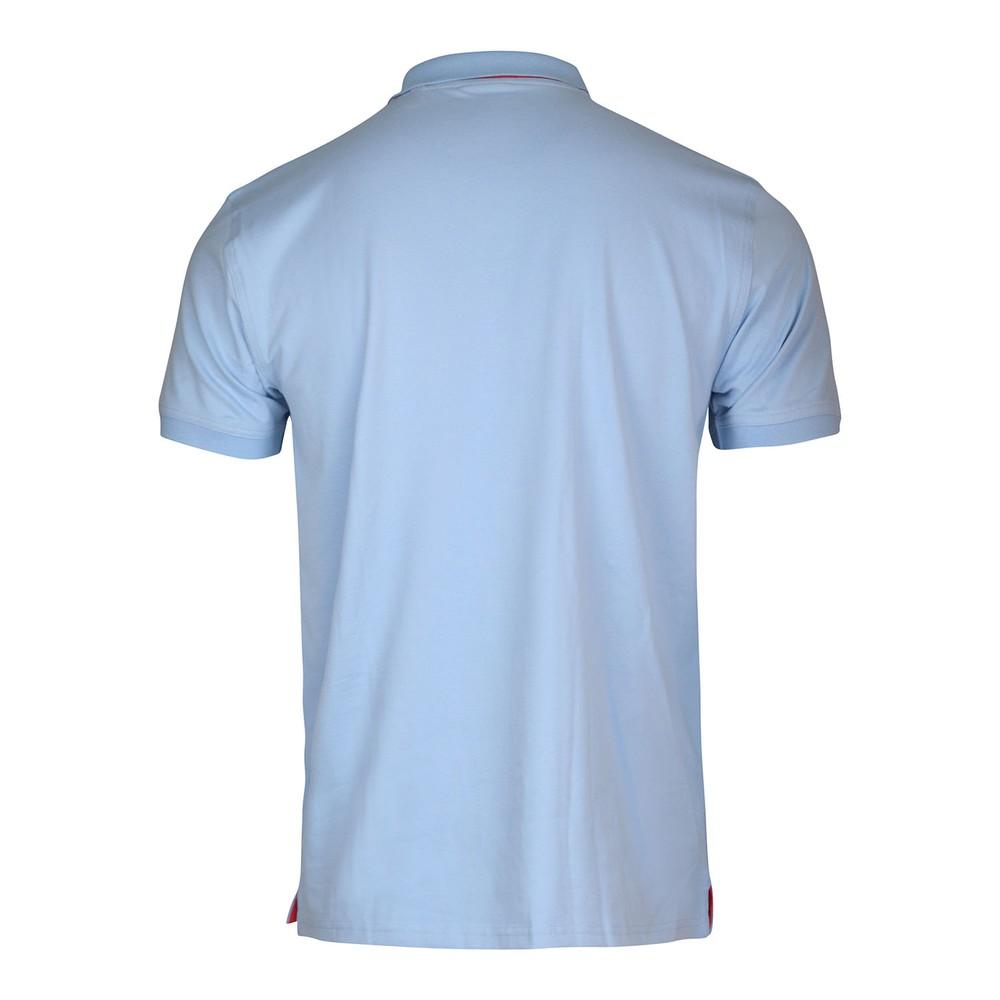 GANT Contrast Collar Pique SS Rugger Polo Powder Blue