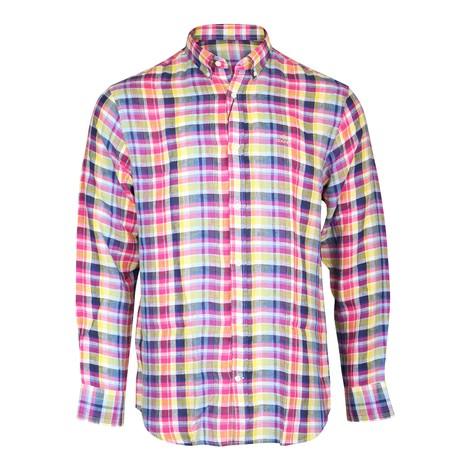 GANT D2.Reg Linen Madras BD Shirt