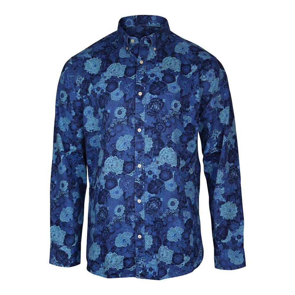 GANT D1.TP Reg Indigo Oxf Stretch  BD Shirt Dark Indigo