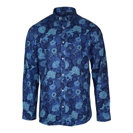 GANT D1.TP Reg Indigo Oxf Stretch  BD Shirt