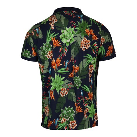 GANT D2. Humming Garden Pique SS Rugger Polo Shirt