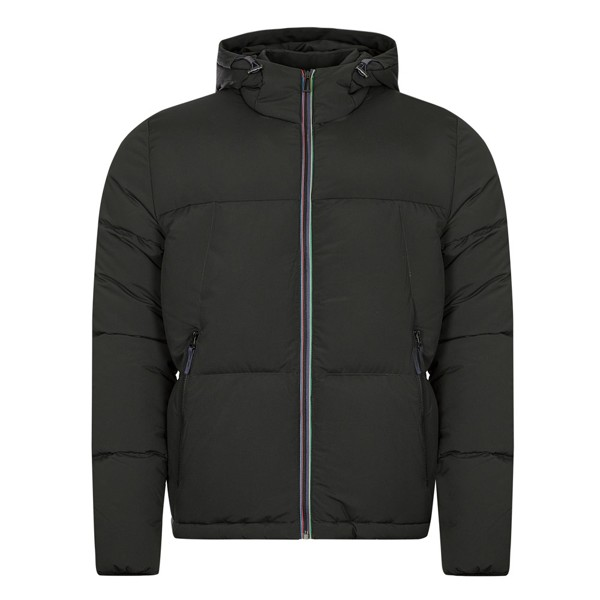 PS Paul Smith Mens Hooded Down Jacket Black