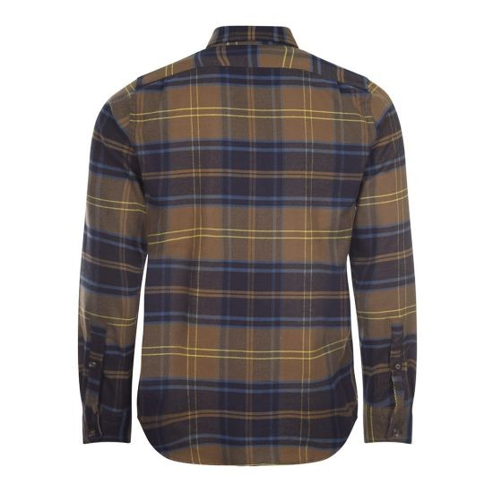 PS Paul Smith Men's LS Tailored Fit Check Shirt Olive