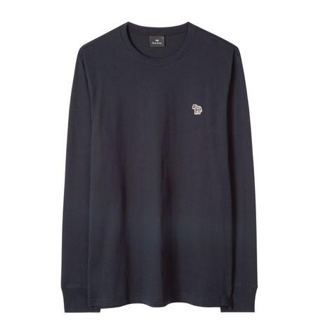 PS Paul Smith Men's Cotton Zebra Logo Long-Sleeve T-Shirt
