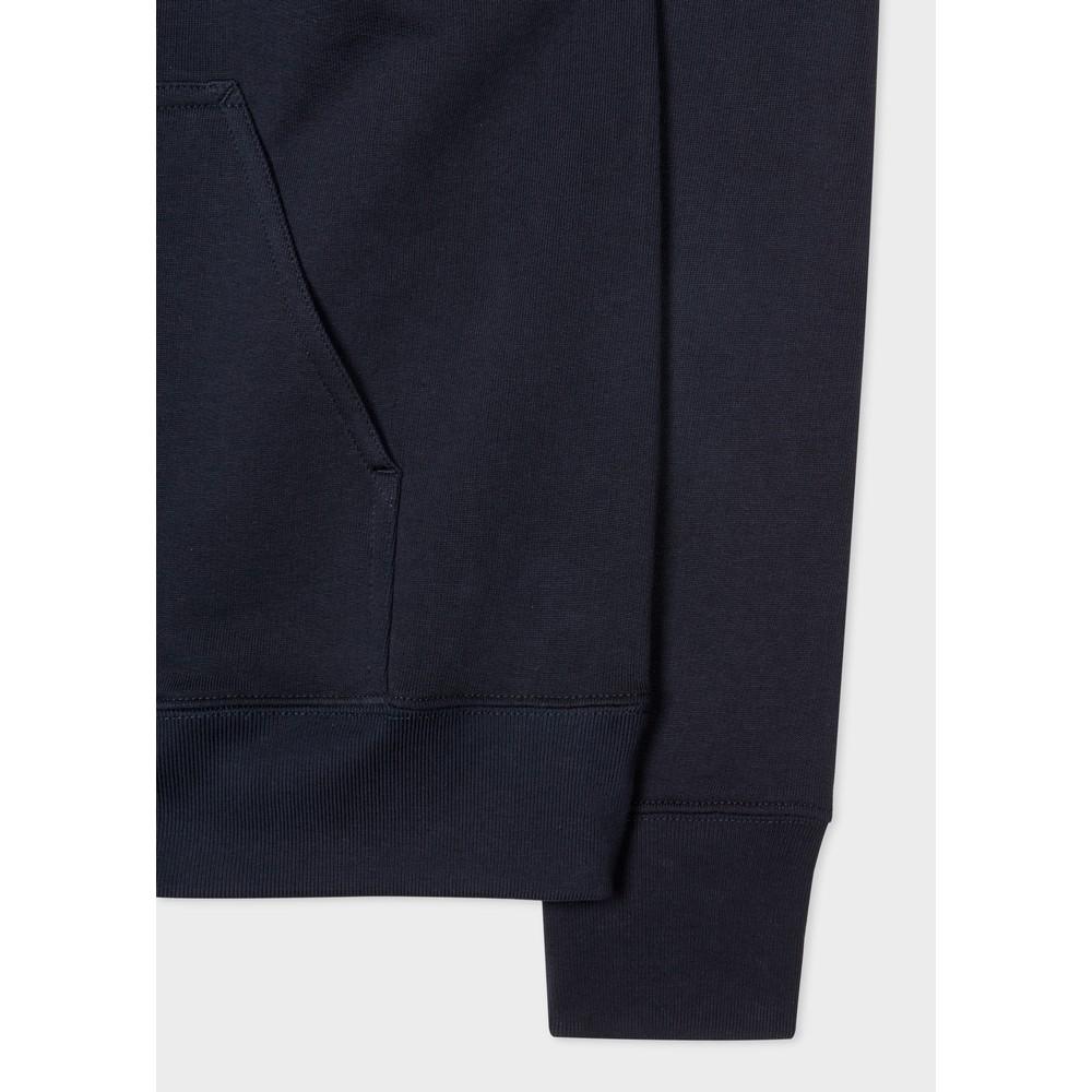 PS Paul Smith Men's Cotton Zebra Logo Hoodie Dark Navy