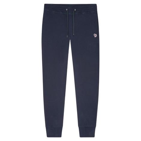 PS Paul Smith Men's Reg Fit Zebra Logo Cotton Sweatpants in Dark Navy