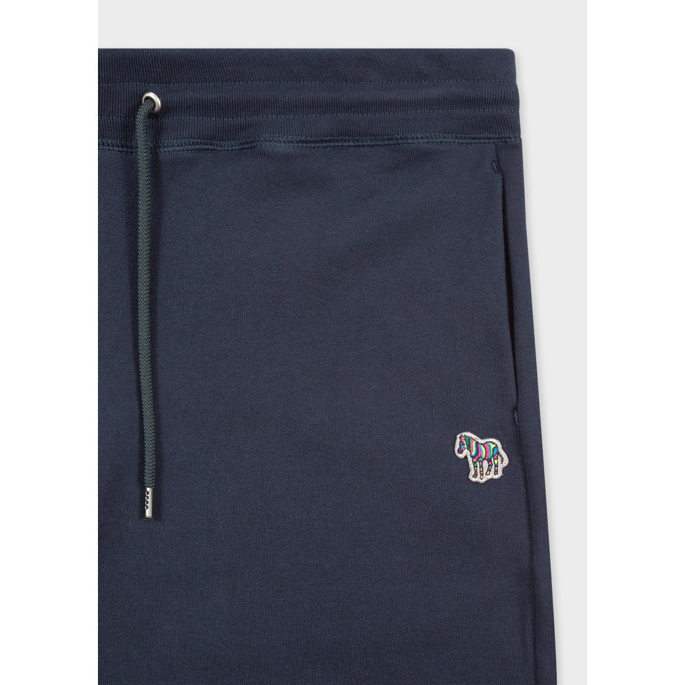 PS Paul Smith Men's Reg Fit Zebra Logo Cotton Sweatpants Dark Navy