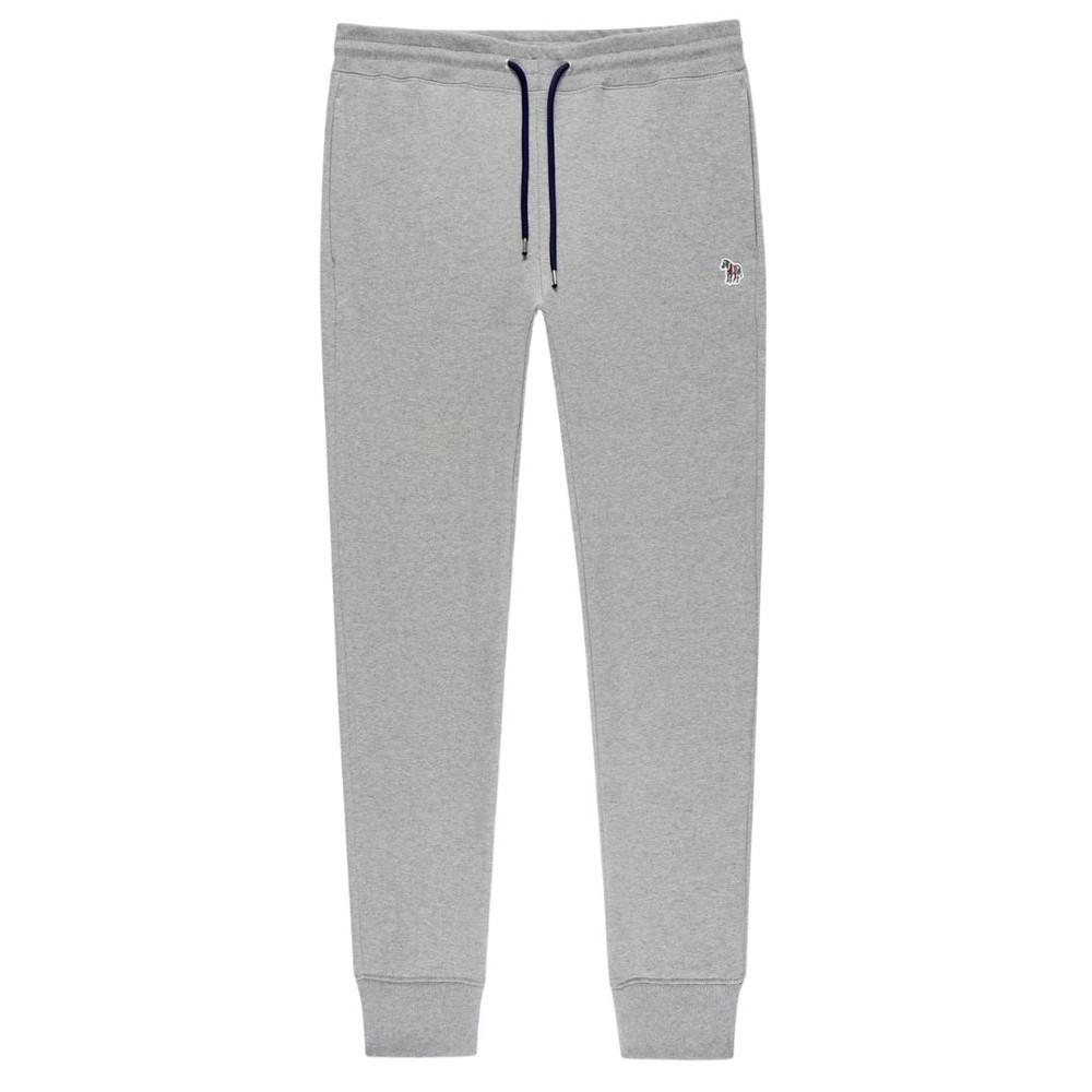 PS Paul Smith Men's Reg Fit Zebra Logo Cotton Sweatpants Grey