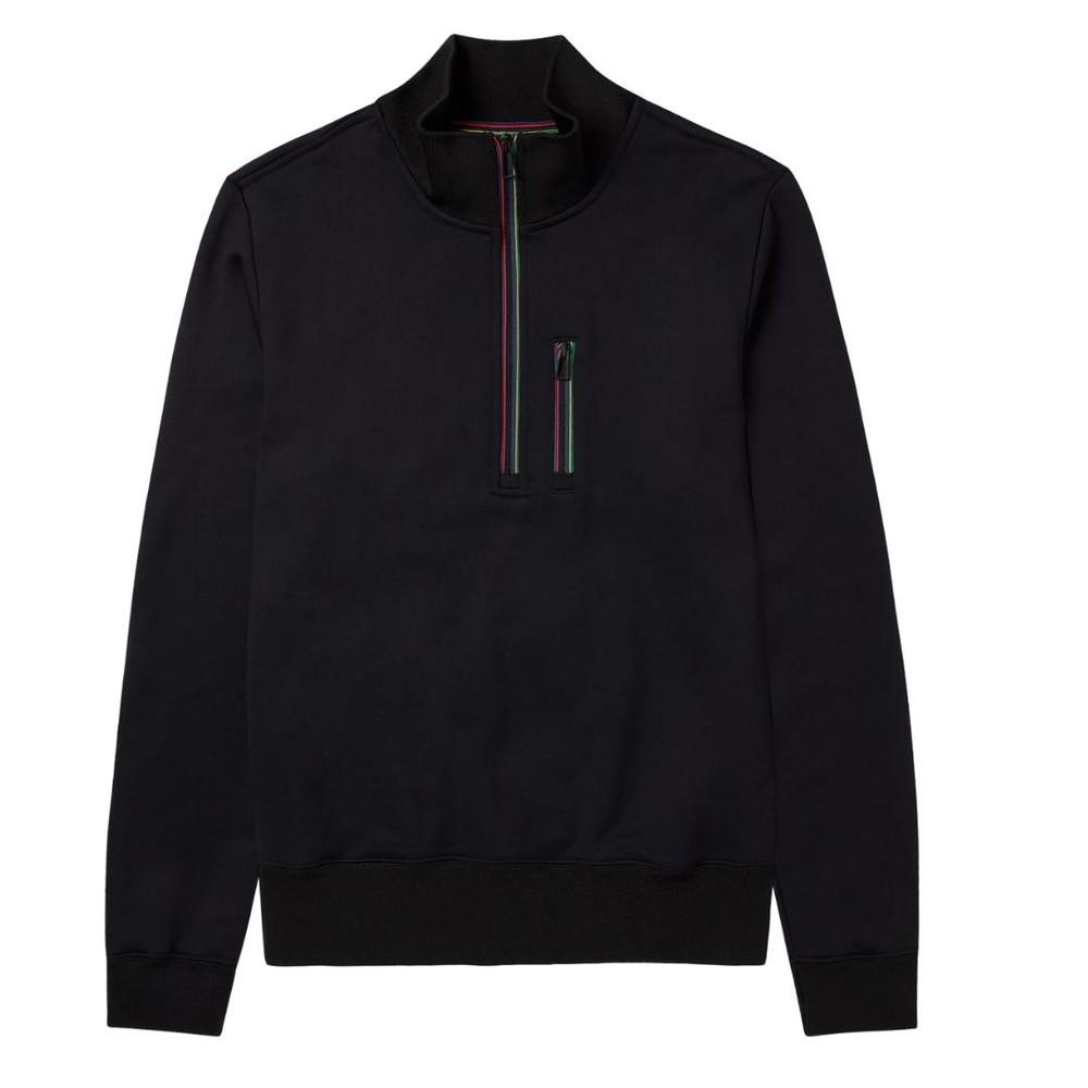 PS Paul Smith Men's Reg Fit Zip Top Black