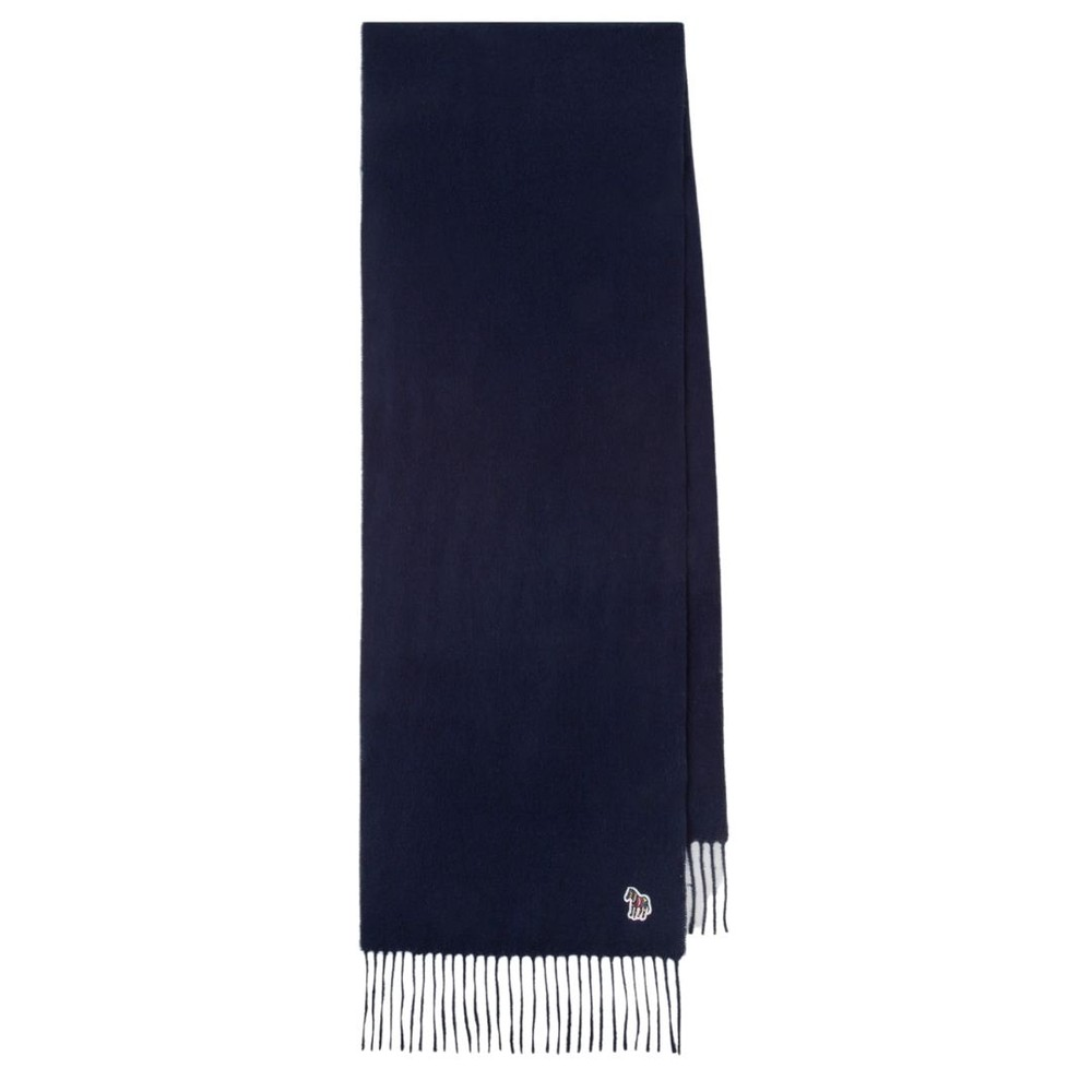 PS Paul Smith Embroidered Lambswool Scarf Black