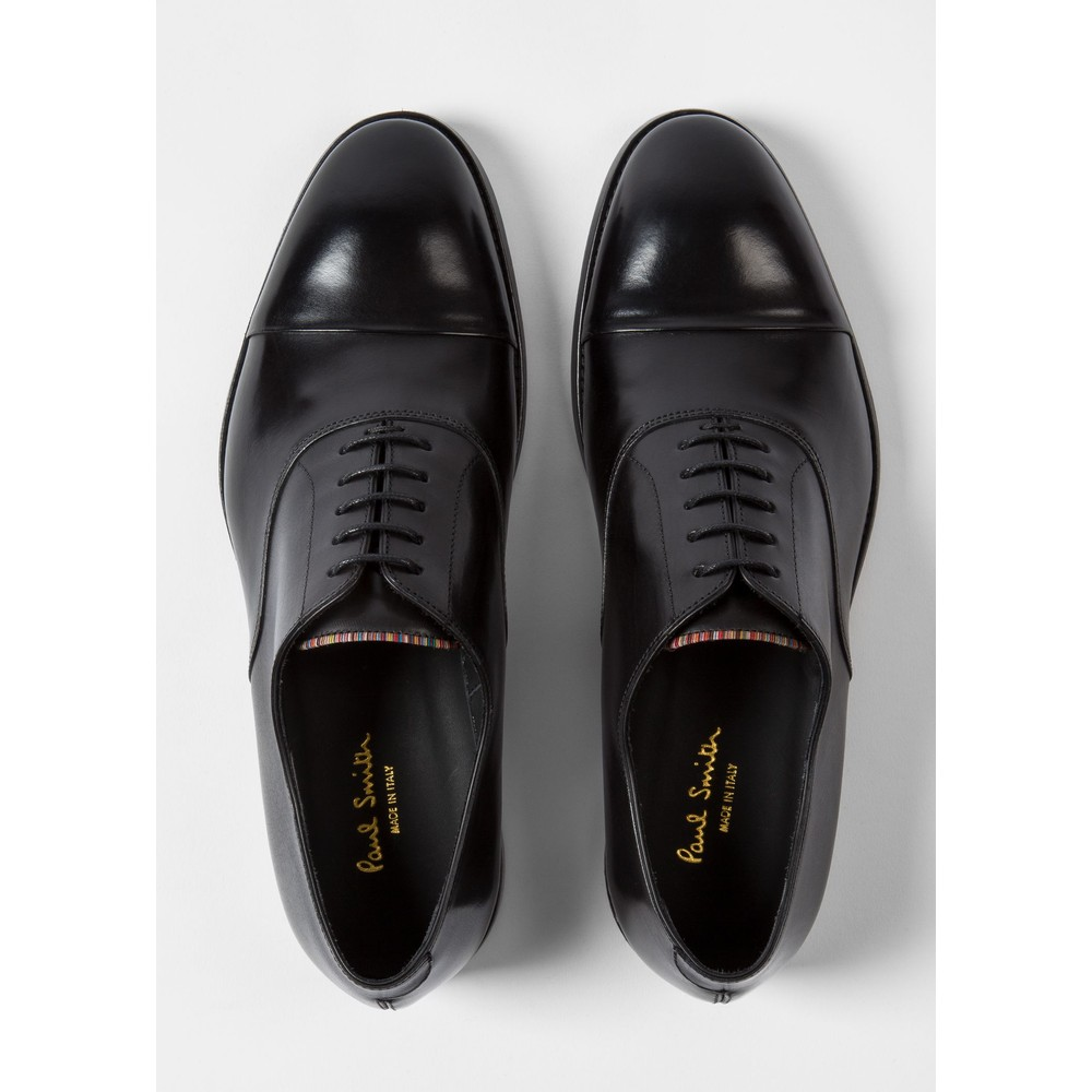 Paul Smith 'Brent' Oxford Shoes With 'Signature Stripe' Details Black