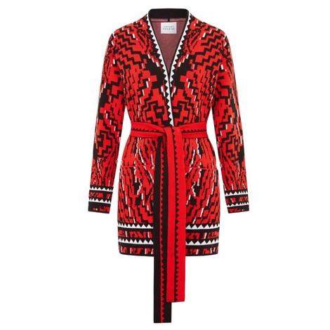 Hayley Menzies Aztec Tiger Cotton Jacquard Cardigan
