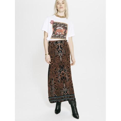 Hayley Menzies Aztec Tiger Jacquard Midi Skirt