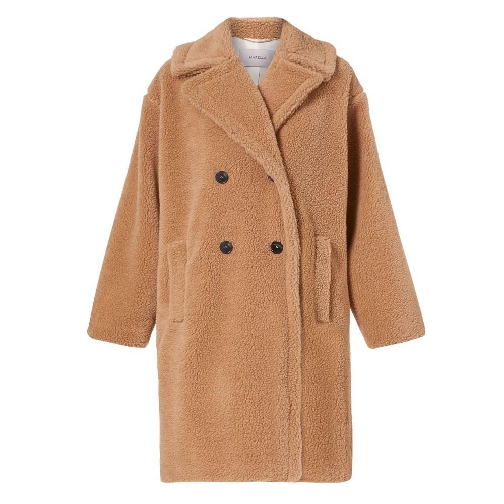 Marella Perak Teddy Coat Camel