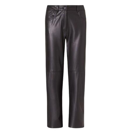 Marella Valdena Faux Leather Straight Trousers