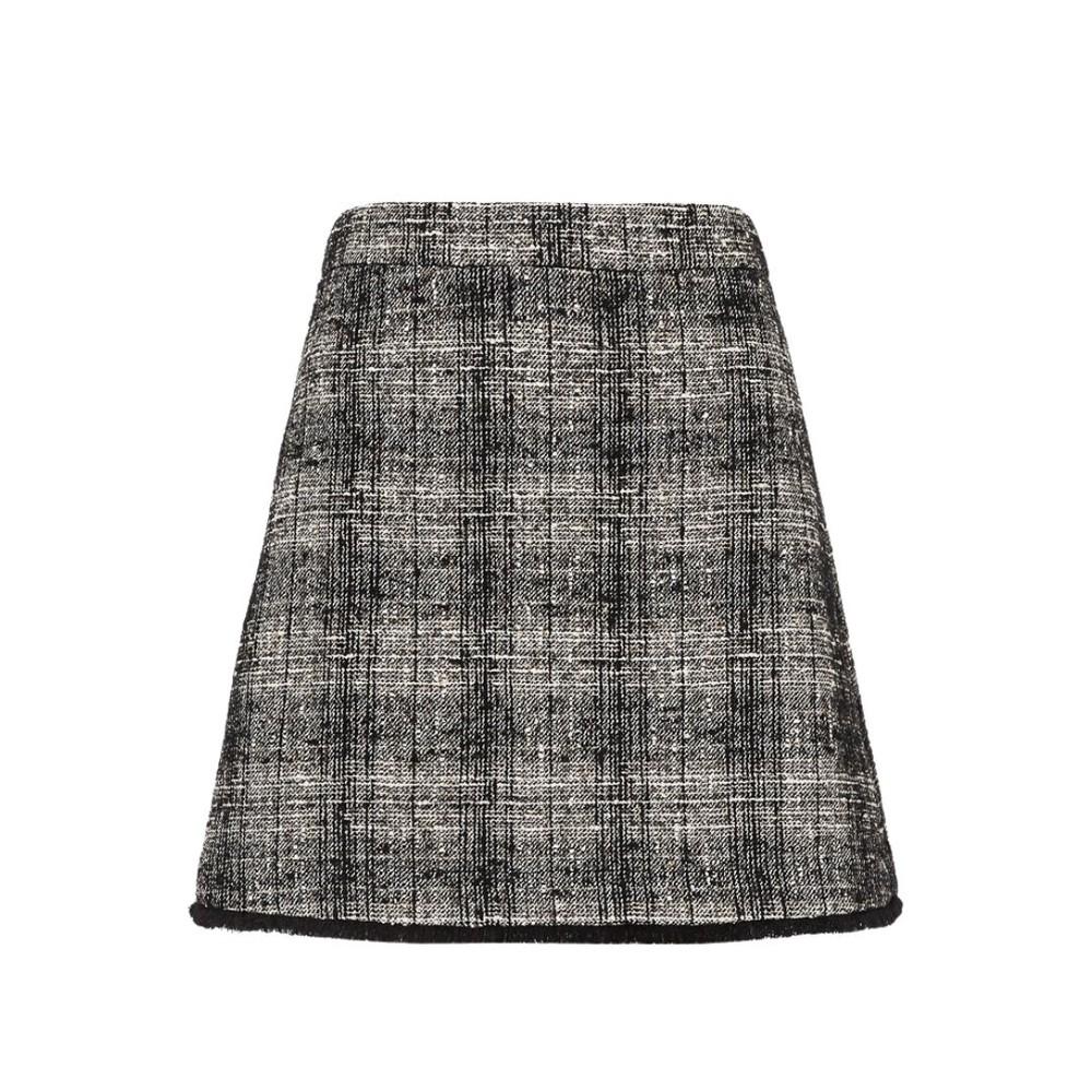 Marella Pontiac Short Check Skirt Black & White
