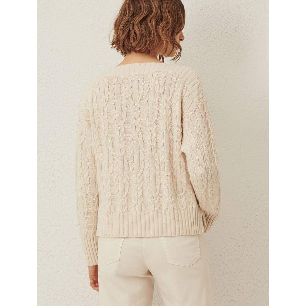 Marella Chianti Cable Knit Jumper Cream