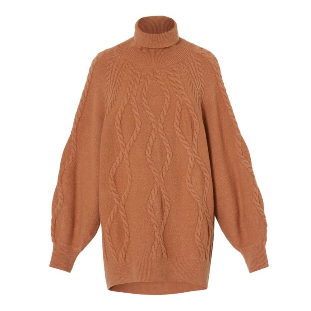 Marella Incline High Neck Knit Jumper Terracotta