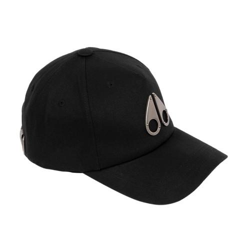 Moose Knuckles Logo Icon Cap Nickel in Black