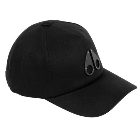Moose Knuckles Logo Icon Cap in Black/Grey