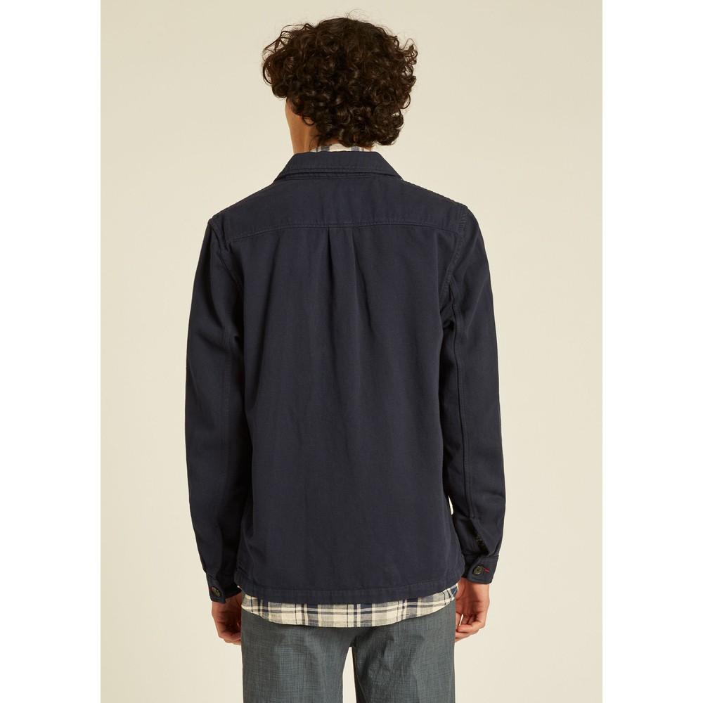 PS Paul Smith Linen-Blend Chore Overshirt Dark Navy