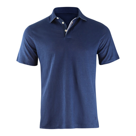 Hackett Linen Trim Short Sleeve Polo