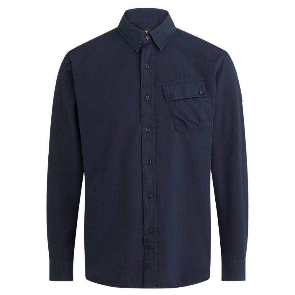 Belstaff Pitch Twill Shirt Navy