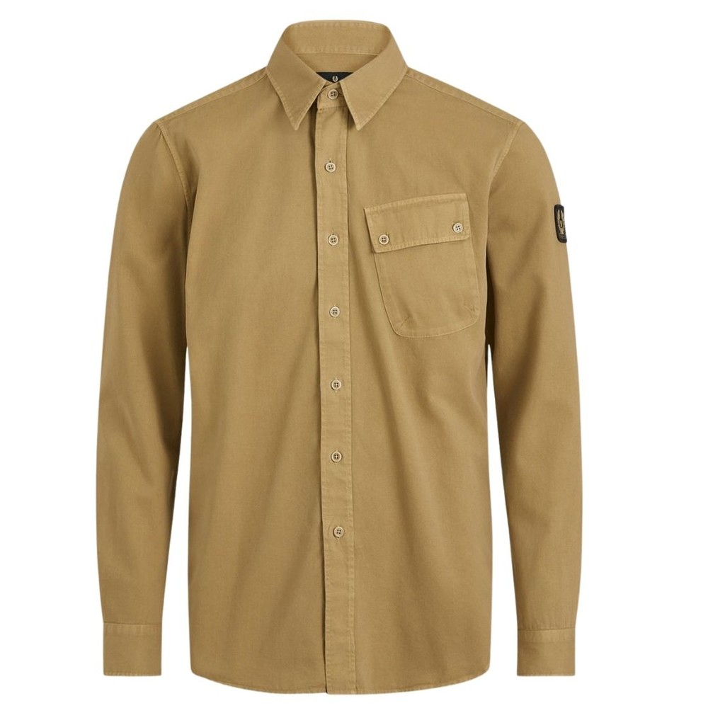 Belstaff Pitch Twill Shirt Khaki