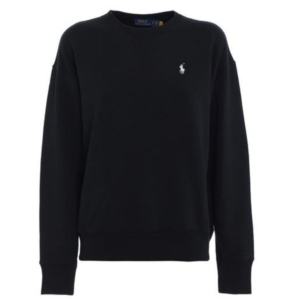 Ralph Lauren Womenswear Crew Neck Sweatshirt Black