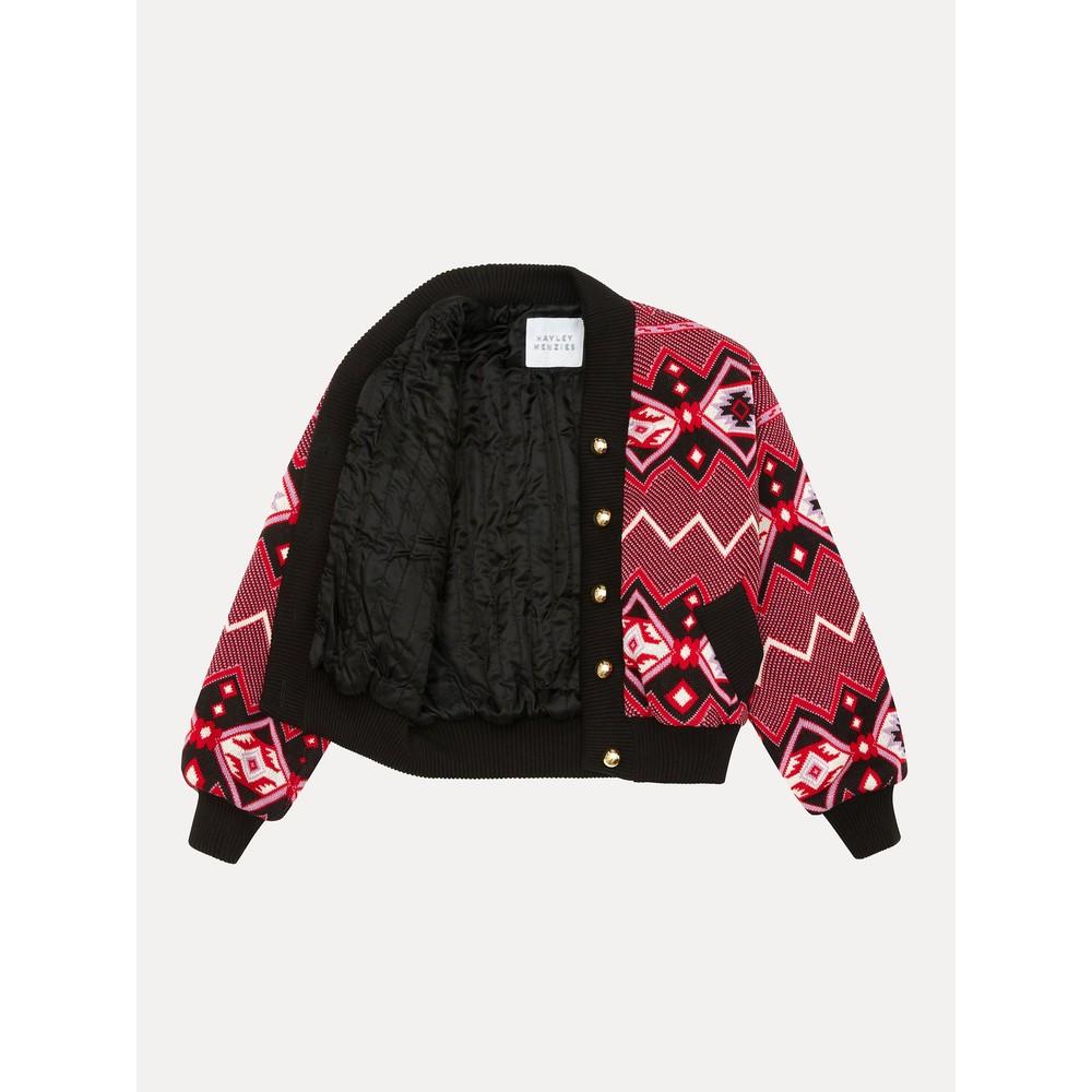 Hayley Menzies Chepstow Cotton Merino Bomber Jacket Multicoloured