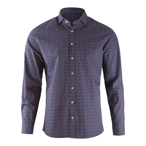 Hackett Kent Slim Fit Lifesaver Print Shirt