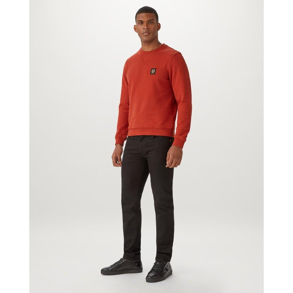 Belstaff Logo Sweatshirt Red Ochre