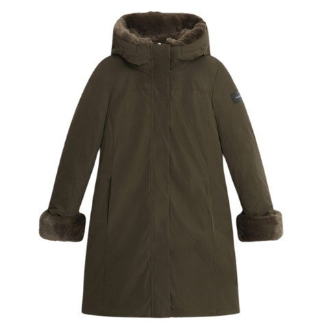 Woolrich Womenswear Luxury Boulder Faux Fur Parka