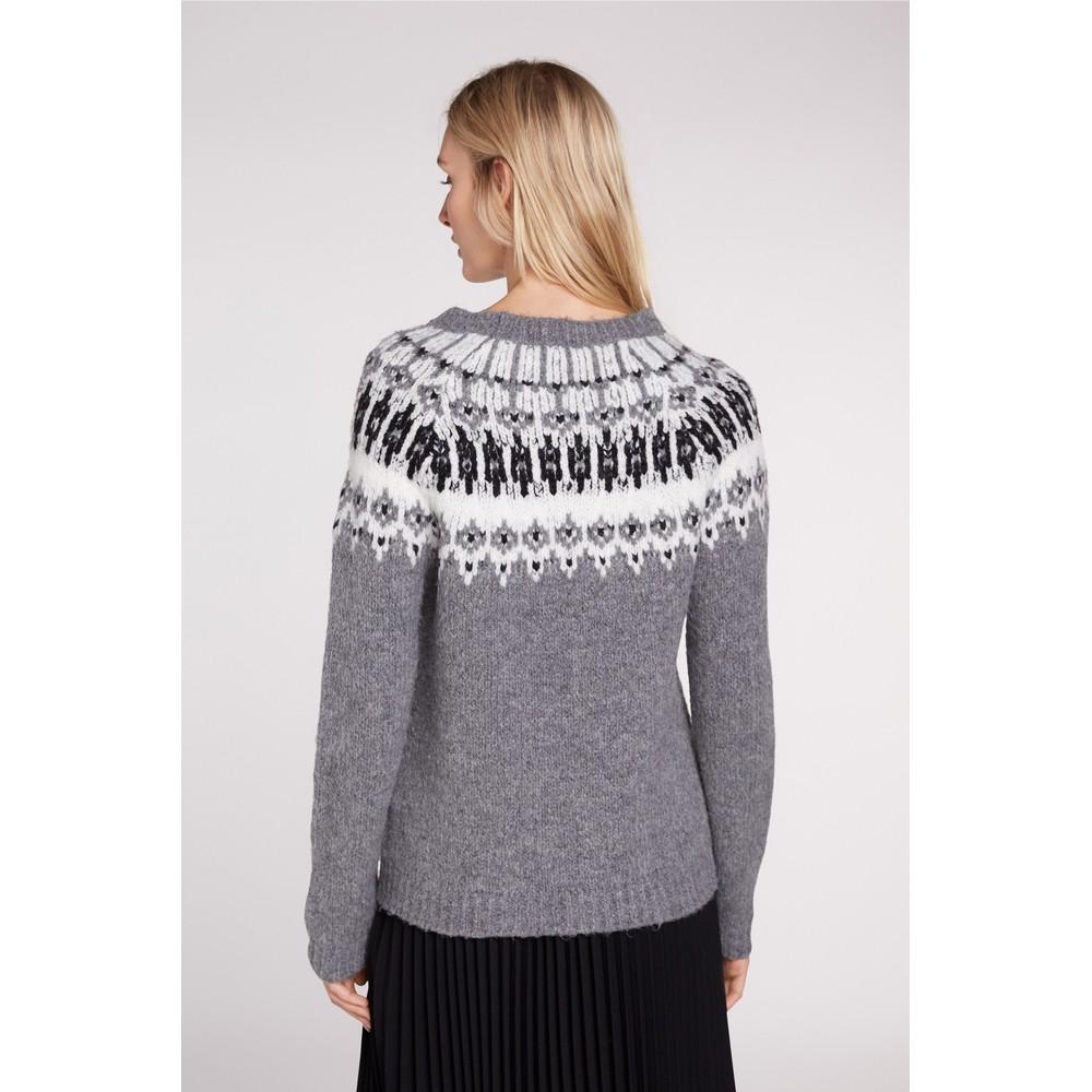 Set Fairisle Knit Black/Grey