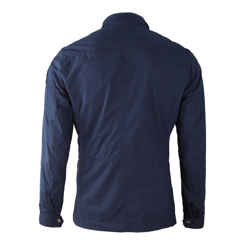 Hackett Jersey Lined Field Jacket Navy