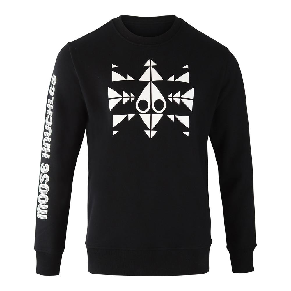 Moose Knuckles Trippy Logo Sweat Black