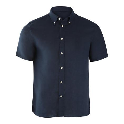 J.Lindeberg Daniel Short Sleeve Linen Melange Shirt