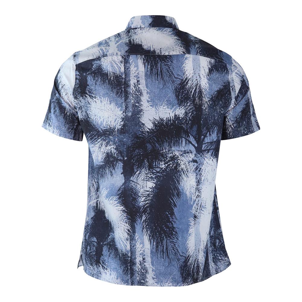 J.Lindeberg Daniel Short Sleeve Print Shirt Navy