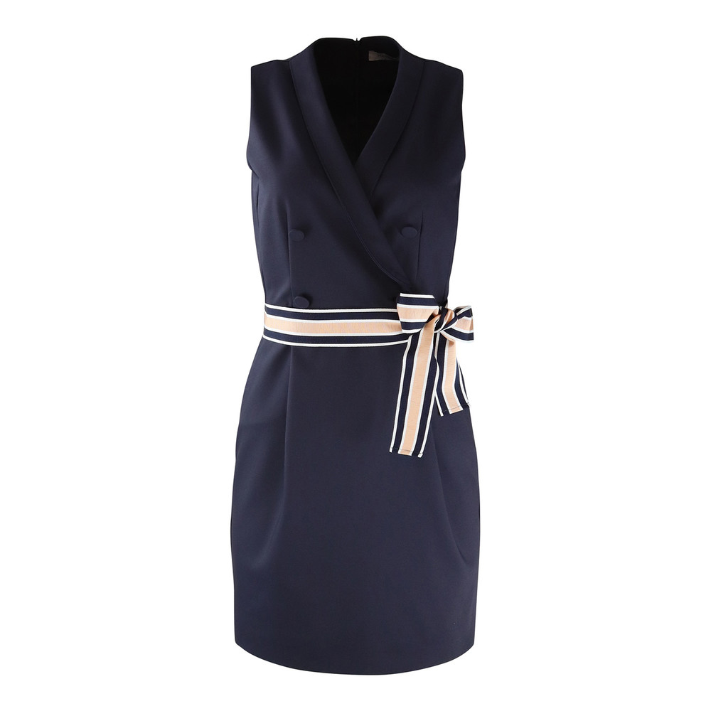 Marella Double Breasted Dress Navy