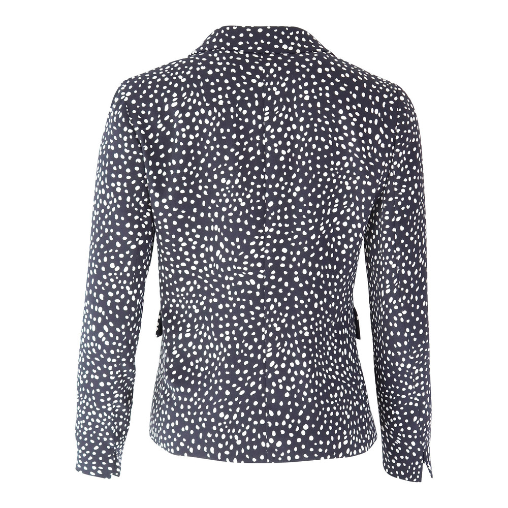 Maxmara Studio Polka Dot Jacket Navy
