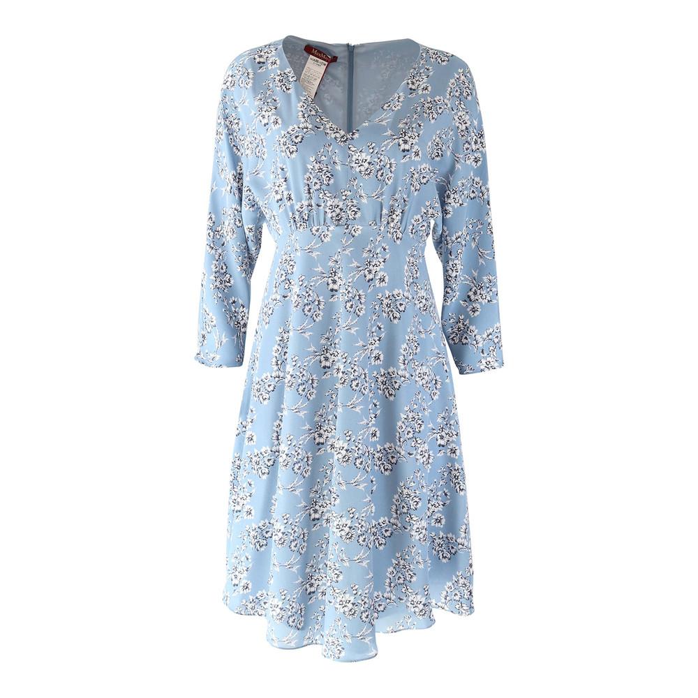 Maxmara Studio Pale Blue Floral Dress Pale Blue