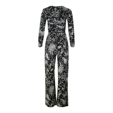 Maxmara Studio Black and White Floral Jumpsuit